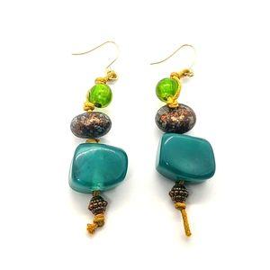 ♠️+ NEW! Erica Lyons El teal Beaded earrings